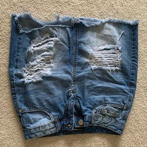 Fashion Nova jean skirt (worn once)